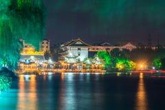 Haoxi Academy at night Royalty Free Stock Image