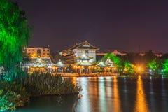 Haoxi Academy at night Stock Photos