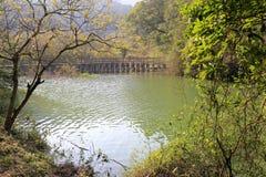 haoyue湖木桥  免版税图库摄影