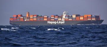 Hapag-Lloyd Container Ship Ulsan Express in high seas Stock Image