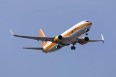 Hapag Lloyd die een TUI vlucht in werking stellen Stock Foto