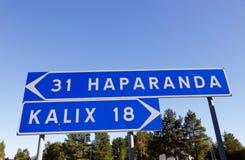 Haparand et Kalix Images libres de droits