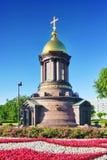 Сhapel in honour of Saint Petersburg 300 anniversary. Stock Photos