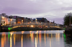 The Hapenny Bridge - Dublin Royalty Free Stock Photo