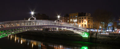 The hapenny bridge,Dublin,Ireland Stock Photo