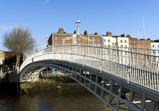 Hapenny Bridge Stock Photo