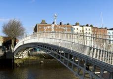 Hapenny Bridge Stock Photo