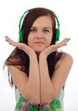 Hapiness met muziek Stock Afbeeldingen