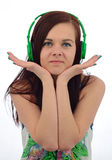 Hapiness with music Stock Images