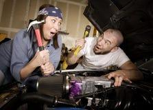 Hapless mechanics Stock Photography