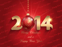 Happ New Year bauble background. Happy New Year background with a bauble design Stock Photo