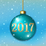 Happe New Year Christmas bauble Royalty Free Stock Photo