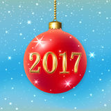 Happe New Year Christmas bauble Royalty Free Stock Photography