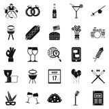 Happening icons set, simple style Royalty Free Stock Photography