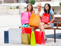 This Happens When Women Go Shopping Together Royalty Free Stock Photography