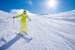 Happiest ski vacation Stock Image