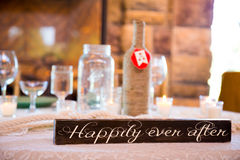 Happily Ever After Wedding Sign Stock Images