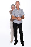 Happily married old couple Stock Photography