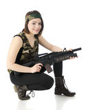 Happily Poised for Combat Stock Photos