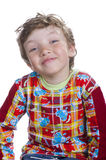 Happines boy isolated on white Royalty Free Stock Photography