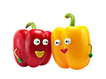 Happines family Peppers Stock Photography