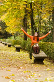 Happines in the forest Royalty Free Stock Image