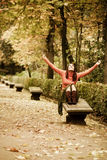 Happines in the forest Stock Image