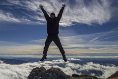 Happines and freedom jump Royalty Free Stock Photography