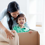 Happines In New Home Stock Photography
