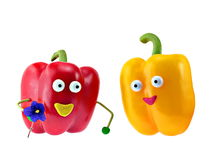 Happines Peppers family Stock Photography