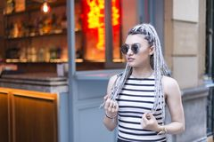 Hipster young woman. Royalty Free Stock Images