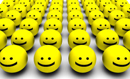 Happiness. With a Group of Happy Faces Royalty Free Stock Image
