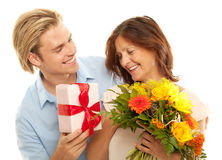 Happiness. Mother and son at mothersday Stock Photography