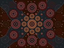Happiness. A illustration based on aboriginal style of dot painting depicting happiness Royalty Free Stock Photo