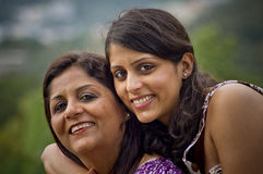 Happiness. Happy Indian mother and daughter Royalty Free Stock Images