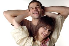 Happiness. Happy young couple Stock Photo