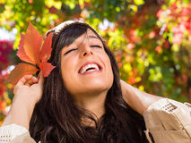 Happiness in autumn Stock Image