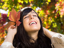 Happiness in autumn Royalty Free Stock Photography