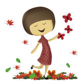 Happiness in autumn Royalty Free Stock Images