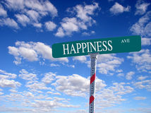 'Happiness Ave' Stock Photos