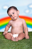 Happiness Baby boy sitting Royalty Free Stock Photography