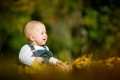 Happiness - baby in nature Stock Photos