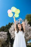 Happiness with Balloons Royalty Free Stock Photos