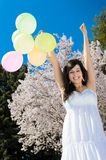 Happiness with Balloons Stock Images