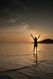 Happiness on he beach Stock Image
