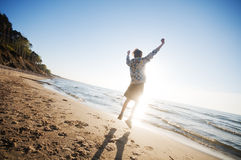 Happiness in the beach scenery Royalty Free Stock Images