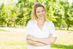 Happiness and beautiful young woman Royalty Free Stock Image