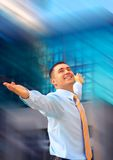 Happiness businessman Stock Photo