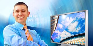 Happiness businessman Royalty Free Stock Image
