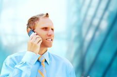 Happiness businessman Stock Images